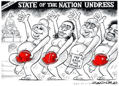 Zapiro - Coming Soon - State of the Nation Undress published in Mail & Guardian on 29 Jan 2015 Coming Soon, South Africa, Cartoons, My Love, Funny, Travel, Cartoon, Viajes, Cartoon Movies