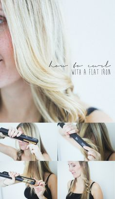 - blog - Hair Tutorial ++ Flat Iron Curls