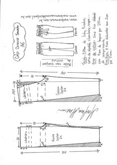 Sewing Pants Tutorial Free Pattern 25 Ideas For 2019 Sewing Clothes Women, Sewing Pants, Diy Clothes, Sewing Coat, Dress Sewing Patterns, Clothing Patterns, Skirt Patterns, Coat Patterns, Blouse Patterns