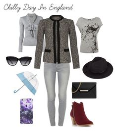 """""""Chilly Day In England"""" by seana-routzahn on Polyvore featuring Mint Velvet, Paige Denim, Alexander McQueen, Dorothy Perkins, MICHAEL Michael Kors, Elizabeth and James, Hunter, women's clothing, women and female"""
