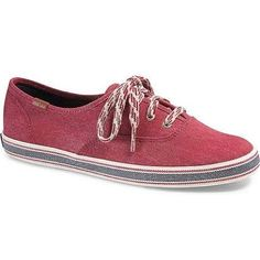 d4cacc78d64a6 Keds Women s Champion Americana Twill Red Ankle-High Canvas Fashion Sneaker  - 9M