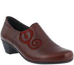 Spring Step Leather Slip-on Shoes - Birye