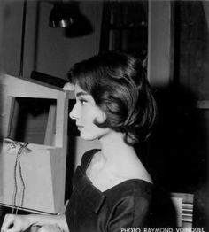 Rare Audrey Hepburn — Audrey Hepburn hair test for Love in the Afternoon...