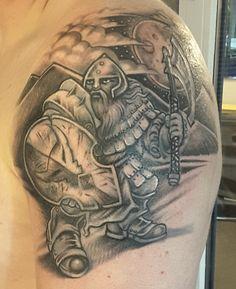 Dwarf warrior tatoo