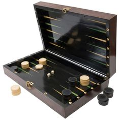 Large French Rosewood  Satinwood Games Box c1840 | From a unique collection of antique and modern games at http://www.1stdibs.com/furniture/more-furniture-collectibles/games/