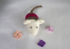 Sleepy Mouse Crochet Mouse Amigurumi Mouse Plush by MWHandicrafts