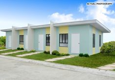Amyra Model Affordable House and lot in St. Joseph Homes Norzagaray Bulacan Bungalow Floor Plans, Duplex House Plans, Modern House Plans, Tiny House Plans Free, Small Apartment Layout, Row House Design, Tiny Studio Apartments, Philippine Houses, Affordable Housing