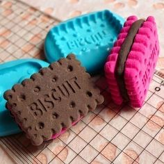 3D Flexible Mold Silicone Mold Cookie Biscuit w/ by MiniatureSweet, $7.45