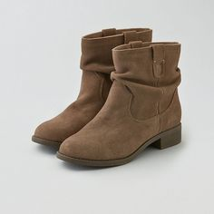 American Eagle Slouchy Suede Boot Cuties (£29) ❤ liked on Polyvore
