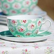 teal cup & saucer
