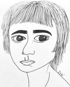 Meu desenho ! #Isie #sketchbook #art #girl #hair #eyes