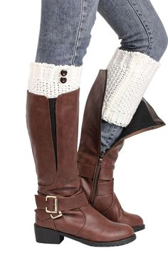 Elacucos Women Christmas Short Thick Boot Cuffs Leg Warmers * Review more details here : Fashion for Christmas