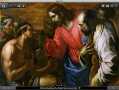 Jesus healing the blind man of Jericho. Bible360 is a free interactive socially-enabled app that brings the scripture to life through video, photos, maps, virtual tours, reading plans and more! Download it for FREE, www.bible360.com