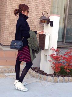mayumi JOURNAL STANDARDのモッズコートを使ったコーディネート