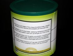 Customized Coffee Can-Part of invitation