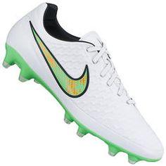 Chuteira de Campo Nike Magista Orden FG - Branco Verde Cla Desconto Centauro  para Chuteira e20d5013246cf