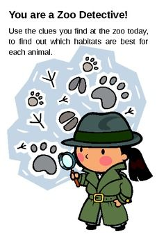 Zoo Detective: Learning about habitats - Mammals Day Camp Activities, Travel Activities, Science Activities, Zoo Phonics, Zoo Crafts, Zoo Animals, Animals Planet, Math Projects, Animal Habitats