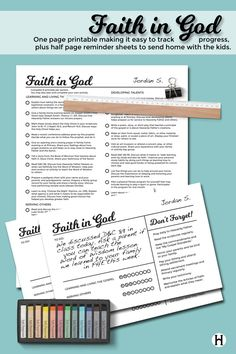 Faith in God printable for Primary - plus lots of other great printables!