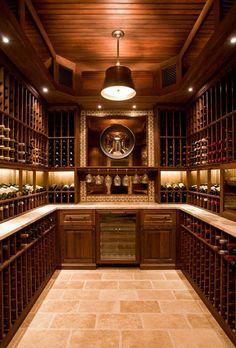 Deluxe wine cellar by Alice Black Interiors. A girl can dream. Sauvignon Blanc, Cabernet Sauvignon, Luxury Interior Design, Interior Design Kitchen, Caves, Wine Cellar Basement, Home Wine Cellars, Wine Cellar Design, Wine Decor