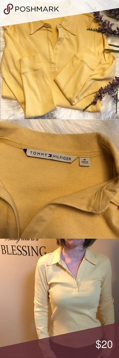 Tommy Hilfiger top Tommy Hilfiger pullover top. Color-soft yellow. Material-100% cotton. Tommy Hilfiger Tops
