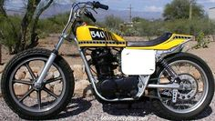 yamaha flat tracker photo | Rare TT500 Aluminum swingarm (and bike)with 3 aluminum tanks I picked ...