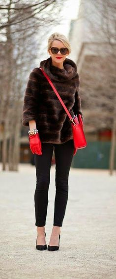 @roressclothes closet ideas #women fashion outfit #clothing style apparel Short Faux Fur Coat