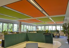 Soft Cells Broadline | Ceiling installation by Kvadrat Soft Cells #architonic #nowonarchitonic #interior #design #furniture #ceiling #acoustic #system