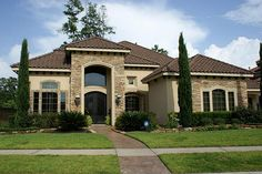 Stacked Stone and Stucco Homes | Stone and stucco home