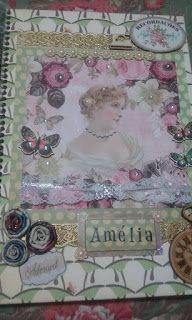 Scrap da Ester: caderno decorado/ damas