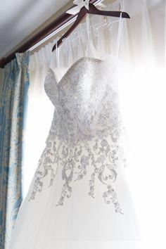 Wedding dress with beading.  Photo by Orlando Wedding Photographer, DSWfoto.