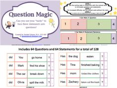 The Queens Speech: New Product- Question Magic, Formulating Questions/Statements, sort, mats, game board, 3 dice, quiz, teachers pay teachers, #SLP, #BSHM