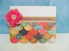 great card to use up scraps! by Cherion