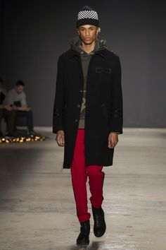 See all the Collection photos from Ovadia & Sons Autumn/Winter 2017 Menswear now on British Vogue Fashion Show Collection, Men's Collection, Vogue Paris, Military Fashion, Mens Fashion, Fashion Trends, Fashion Styles, Winter 2017, Fall Winter