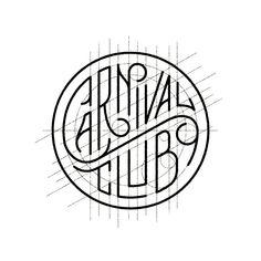 Carnival Club by Seth Lucas . Behind a logo . Construction grid . Geometric . Design .