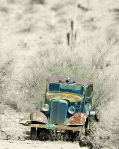 An abandoned beauty. 1936 Chevy.