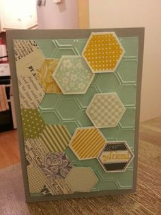 """""""Hexagon My Friend handmade card from card club Stamping Up Cards, Embedded Image Permalink, Honeycomb, Stampin Up, Fairy, Card Ideas, Handmade, Club, Design"""