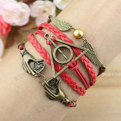 Harry potter bracelet Hand in the heart of by themagicbracelet, $5.59