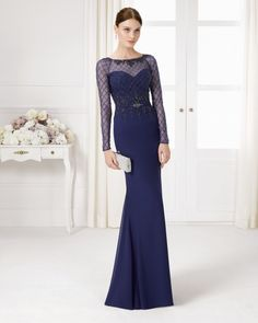 Beaded chiffon dress and shawl. Available in navy blue, lavender, silver and red.