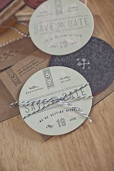 Goncharows Coaster Wedding Invites....I especially love the envelopes & typography