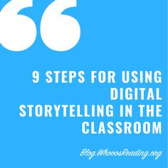 9 steps for using digital storytelling in the classroom. Instructional Technology, Instructional Strategies, Educational Technology, Architecture Design, Education Architecture, Education Quotes, Art Education, Problem Based Learning, Forms Of Communication