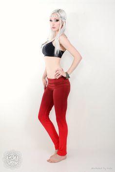 26cfaffd4bdb6 Athletic Pants, Red Brown Dyed Leggings, Dancewear, Dance Gift, Gift for  Dancer, Aerial Pants, Aerial Dance, Aerial Gear, Aerial Gift