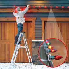 Hanging christmas lights the easy way holidays easy and lights 88 quick and easy decorative upgrades christmas lights on houseshanging christmas lightsholiday lightsoutdoor aloadofball Image collections