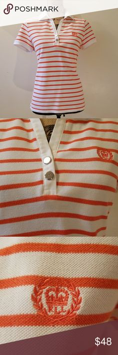 Ralph Lauren Polo Striped coral and white Ralph Lauren Polo  Excellent condition..good as new! Ralph Lauren Tops