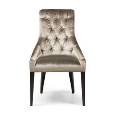 The Bourdon dining chair is a sophisticated design with a slender tall back and deep buttoned detail. The stud detail around the back of them makes them quite special. The sprung seat ensures the comfort of this chair matches the outstanding look of it.