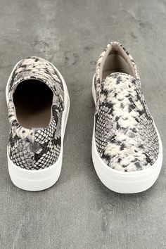 d69d5db97fb Steve Madden Gills Natural Snake Slip-On Sneakers