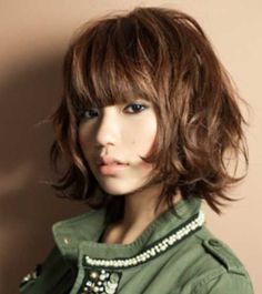 15 Short Hairstyles For Thick Wavy Hair | Short Hairstyles ... Bobs For Thin Hair, Short Hair With Bangs, Short Hair Cuts, Thick Bangs, Heavy Bangs, Wispy Bangs, Wavy Bobs, Bob Hairstyles For Thick, Hairstyles With Bangs