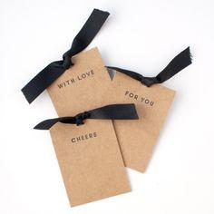 kraft and black gift bag tags