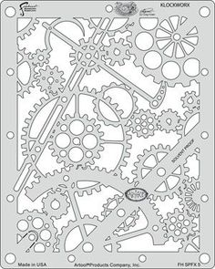 Craig Frasers Steampunk FX Airbrush Stencils Paint Template (Set of 6