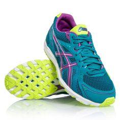 4d6b1aea3c Asics Gel Hyper Speed 5 - Womens Running Shoes - Blue Violet Yellow. Tênis  ...