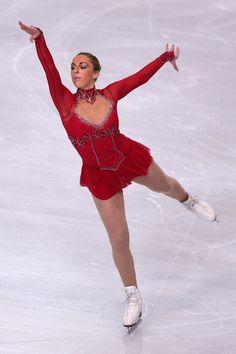 Jenna McCorkell of Great Britain Short Program 2013 Trophee Eric Bompard, Red Figure Skating / Ice Skating dress inspiration for Sk8 Gr8 Designs.